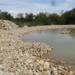Entre pierres et eau, un étang typiquement pionnier