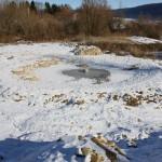 L'étang en cours de remplissage