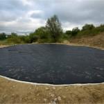 L'étang prêt à recevoir sa couche de protection en béton maigre