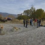 Finalisation de l'étang pour le crapaud accoucheur