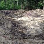 La dépression du petit étang est aménagée. La marne en place est de qualité suffisante pour réaliser une étanchéité naturelle
