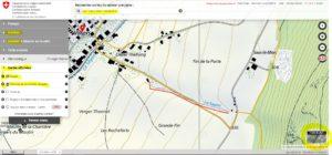 Localisation en jaune des outils selon points 2) à 5)